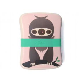 Petit Monkey Bamboo Lunch Box SLOTH pink