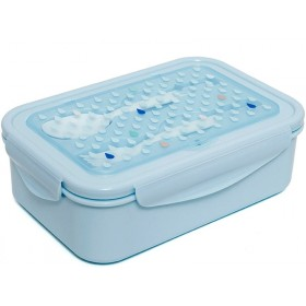 Petit Monkey Bento Box DROPS blue