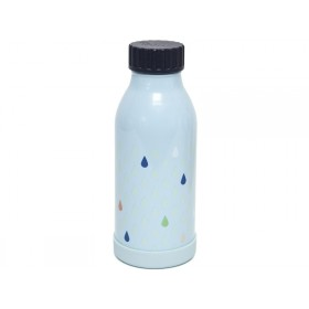 Petit Monkey Stainless Steel Bottle DROPS blue