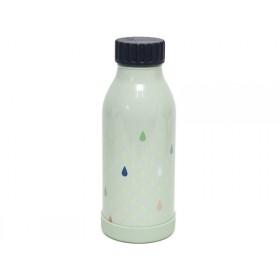 Petit Monkey Stainless Steel Bottle DROPS green