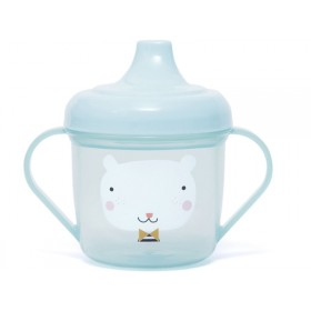 Petit Monkey Spout Cup BEAR blue