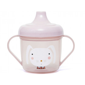 Petit Monkey Spout Cup RABBIT pink