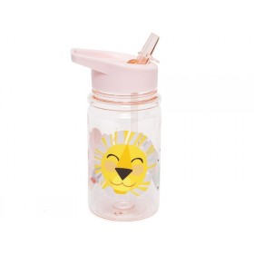 Petit Monkey Drinking Bottle LION AND FRIENDS pink