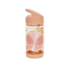 Petit Monkey Drinking Bottle BUTTERFLY & FRUIT apricot