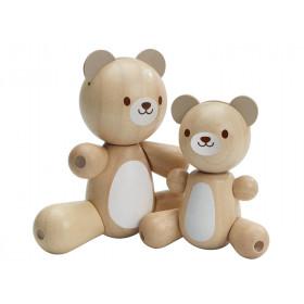 PlanToys Wooden Bear Set