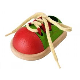 PlanToys tie-up shoe