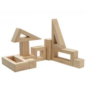 PlanToys 10 Wooden Blocks NATURAL