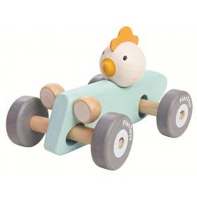 PlanToys racing car CHICKEN BLUE