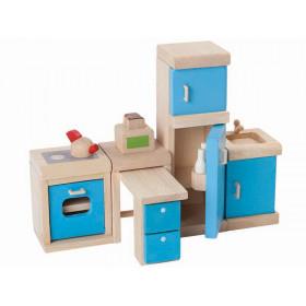 PlanToys Dollhouse Kitchen AQUA