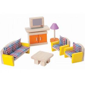 PlanToys Dollhouse Living Room CHECKED