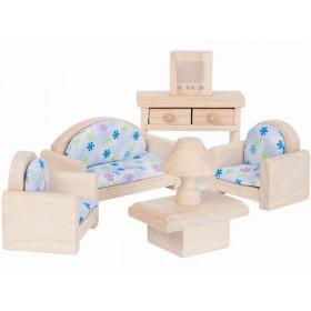 PlanToys Dollhouse Living Room CLASSIC