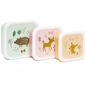 Petit Monkey Lunchbox Set FOREST FRIENDS
