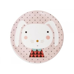 Melamine Plate Rabbit Drops by Petit Monkey