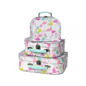 Rexinter suitcase set FLAMINGO