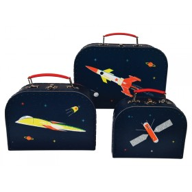 Rex London suitcase set SPACE AGE