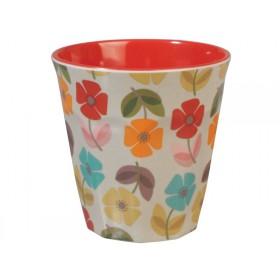 Rexinter melamine cup Mid Century Poppy