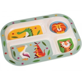 Rexinter melamine tray plate Colourful Creatures
