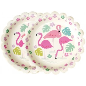 Rexinter party plates FLAMINGO