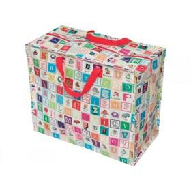 Jumbo storage bag alphabet