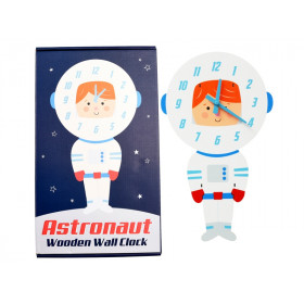 Rex London wooden wall clock ASTRONAUT