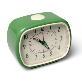 Retro clock in green