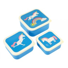 Rex London 3 Snack Boxes MAGICAL UNICORN