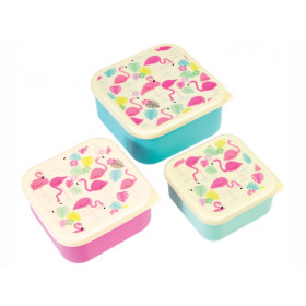 Rex London 3 Snack Boxes FLAMINGO
