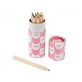 Rexinter 12 Colour Pencils COOKIE the CAT