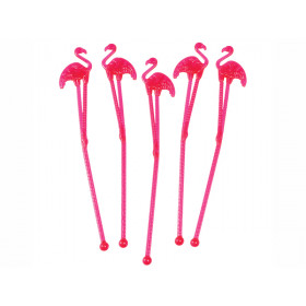 Rex London 12 Cocktail Stirrers FLAMINGO