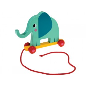 Rexinter wooden pull toy ELVIS THE ELEPHANT