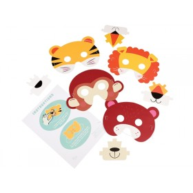 Rex London 3D ANIMAL MASKS (SET OF 4)