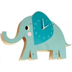Rex London wooden wall clock ELVIS THE ELEPHANT