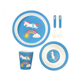 Rex London Bamboo Tableware Set UNICORN