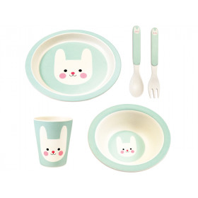 Rex London Bamboo Tableware Set BONNIE THE BUNNY