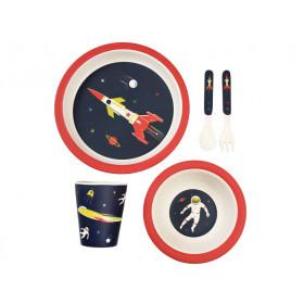 Rex London Bamboo Tableware Set SPACE