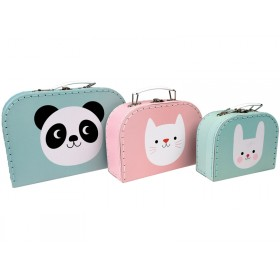 Rex London Toy Suitcase PANDA, BUNNY, CAT