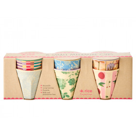 RICE 6 Small Melamine Cups LET'S SUMMER Print