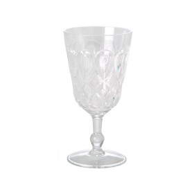 RICE wine glass in swirly embossed clear acrylic