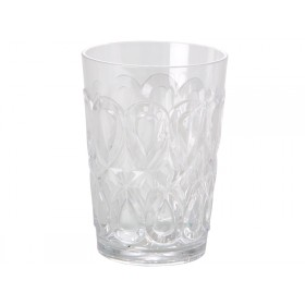 RICE tumbler in swirly embossed clear acrylic