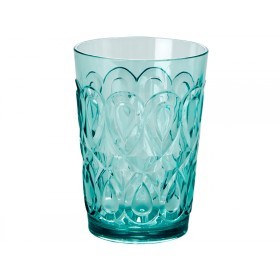 RICE tumbler in swirly embossed mint acrylic