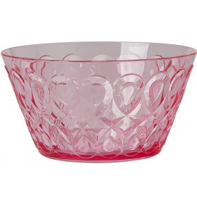 RICE acrylic bowl swirly embossed PINK SMALL