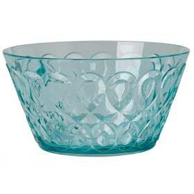RICE acrylic bowl swirly embossed MINT SMALL