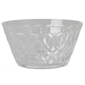 RICE acrylic bowl swirly embossed CLEAR SMALL