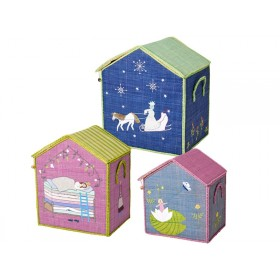 RICE storage snow queen, princess on pea & thumbelina