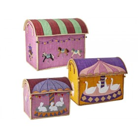 RICE Toy Basket CAROUSEL