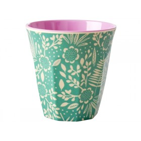 RICE Melamine Cup FERNS & FLOWERS