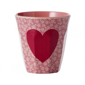 RICE melamine cup heart coral