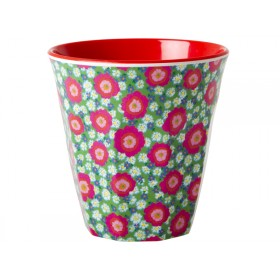 RICE melamine cup with peony print