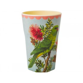 RICE melamine latte cup parakeet print