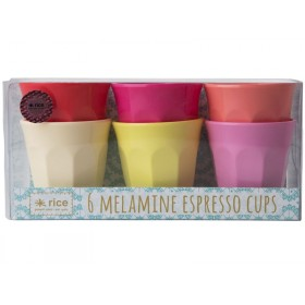 RICE Melamine Espresso Cups SUNNY colors